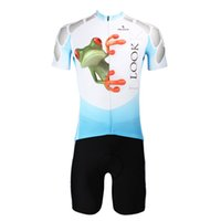 antimicrobial fabrics - Adorable Frog Printing Sport Wear Set Moisture Wicking Jersey Short Sleeve Tights Breathable Fabric Antimicrobial Quick Dry Cycling Clothing