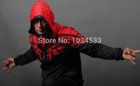 amazing dc - New DC Amazing Spiderman Spider Man Sports Sweatshirt Punk Cool Full Zipper Winter Warm Cotton Hoodie