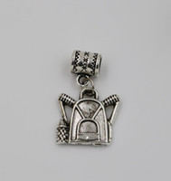 backpack charms - Hot Tibetan Silver Alloy Single sided Backpack Dangle Bead Fit Charm Bracelets x17mm DIY Jewelry