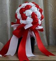 Wholesale Bride holding flowers handmade rhinestone material wedding supplies wedding photo studio wedding bridesmaid bouquet multicolor