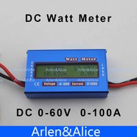 Wholesale DC Watt meter with LCD display for DC V A balance voltage current RC battery power Analyzer