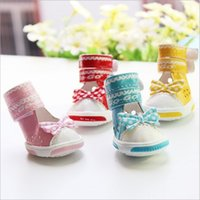 Wholesale New Dog Apparel Pets Supplies Summer PU Butterfly Knot Breathable Sandals For Dog Shoes colors MC