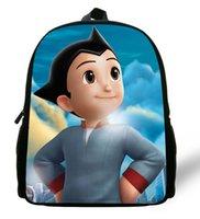 astro boy bag - 12 inch Mochilas Infantil Astro Boy School Bags For Kids Cartoon Children Boy Backpack Astro Boy Print Age Book Bag