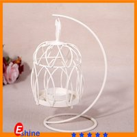 craft candle - Classical hollow candlestick Birdcage Candelabra Round Iron Candle holder Home Crafts for wedding party embellish lantern gifts colors