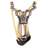 Wholesale High Quality Cool Skull Head Pattern Slingshot for Athletics and Fitness Bronze