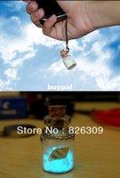 Cheap Free shipping Japanese light-storing luminous wishing bottle Vials With Cork glass wish bottle,phone chain,giftpnm1