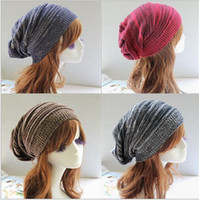 Wholesale New Fashion Double color hat of multi layer fold warm hedge pile of pile cap hip hop dance knitting wool hat