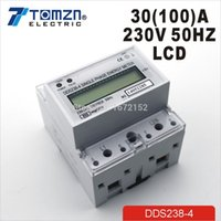 Wholesale A V HZ max A Single phase Din rail KWH Watt hour din rail energy meter LCD