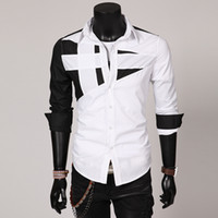 Wholesale NT001 Brand New style Design Mens Shirts high quality Casual Slim Fit Stylish Dress Shirts Colors Size L XXXL