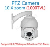 cctv ptz - 10X zoom Sony CCD TVL PTZ high Speed Dome Camera array LED IR waterproof Mini speed Dome camera speedome CCTV security