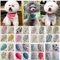Wholesale New Mix Colors Adjustable New Dog Puppy Pet bandana Collar dog bandanas Cotton Most Fashionable