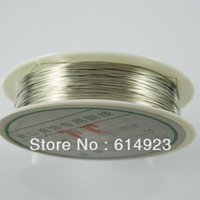 Wholesale mm m Roll Jewelry DIY Silver Copper Wire Beading Cord Fashion Jewelry Finding TF09