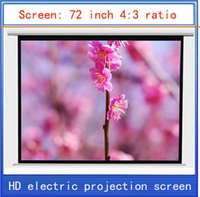 Wholesale inch projection screen HD screen home theater projector screen HD projector screen electric curtain Wireless Remote