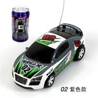 Wholesale Remote control car Toys mini charging drift car RC toy at a high speed zip top can package