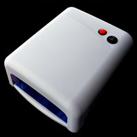 Wholesale Professional w White Nail Art UV Gel Curing Lamp Dryer Light UV lamp Manicure Tools V