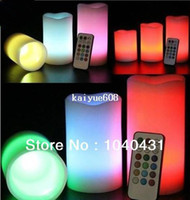 Wholesale Hot sale Wax Battery electronic remote control led candle light colors flashing light like real candles