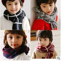 baby wrap brands - Children Scarf Hot Brand kids babys plaid Scarf Knitted Winter Neck warmer Scarves Wrap Boys Girls Baby Scarf christmas gifts