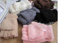 Wholesale 2paris Women Men Winter Cute Candy Color Warm Gloves Flip Fingerless Dual Purpose Gloves Christmas Gift