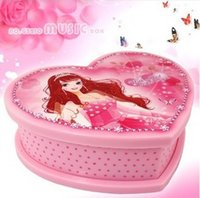 ballerina music boxes - FBH040235 Music box Girls birthday gift mirror jewelry box ballerina Rotation beautiful Heart shape