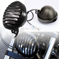 Wholesale Motorcycle accessories Harley cruise vehicles Vintage refitted headlight headlamp assembly with metal fence lampshade