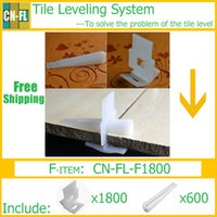 Wholesale CN FL F1800 Tile leveling system solve flooring level Tile spacer Lippage free Kit