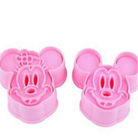 ball biscuit - DIY baking biscuit cake cookie mold rice ball mold three dimensional Mickey minnie pieces cake mold presses tool