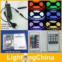 Wholesale LED Strips M Set RGB LED Lights M LED Light Strip Waterproof Keys IR Remote Controller DC12V A Power For Xmas Decoration