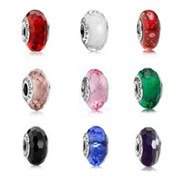 Cheap Fits Pandora Bracelets Glass Beads 925 Sterling Silver Screw Fascinating Faceted Murano Glass Loose Beads For Diy Women Jewelry Accessories