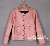Wholesale The spring and autumn period and the deerskin flocking leisure thin short coat female joker brief paragraph coat jacket