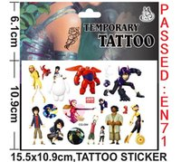Wholesale New sets Big Hero Children Kid Stickers personality TEMPORARY TATTOO sticker Party