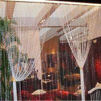 christmas - 105ft Garland Diamond Strand Acrylic Crystal Bead Wedding Ceremony Stage Backdrop Christmas shopping window decoration