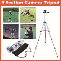 Wholesale New Compact Flexible Extendable Tripods Sections mm Universal Metal Professional Tripod with Bag A3