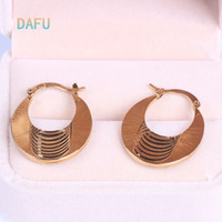 basketball hoop sales - Vintage Earrings18K Real Gold Plated Women Gift Sale Fashion Jewelry Basketball Wives Round Fancy Hoop Earrings