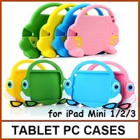 Wholesale carton car design tablet pc cases for iPad mini silicon protective cover for iPad