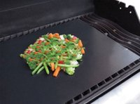 Wholesale Reuseable Barbecue Grilling Liner BBQ Grill Mat Liner Non Stick Barbecue Cooking Baking Mat Sheet OPP Packing