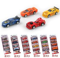 Wholesale 8pcs set Designs Cars Children Boys Man Model Toys Christmas New Year Gifts Diecast Cars Model Vehicle Car D2984