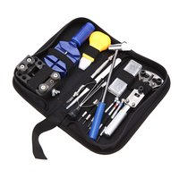 Wholesale 14PCS Watch Repair Tool Kit Case Opener Link Remover Spring Bar Tool E0468