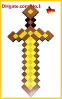 Cheap HOT Minecraft Espada Minecraft Sword pickaxe Foam toys minecraft diamond Sword Pickaxe for kids outdoor game fun sports