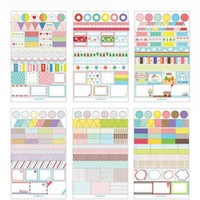 Wholesale 6 Sheets Kawaii Blue Drawing PVC Transparent Planner Calendar Diary Sticker Scrapbook Decoration School Office Stationery SK09
