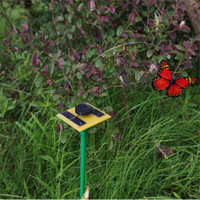 Wholesale Novelty Solar Powered Dancing Flying Butterfly Garden Decoration Tools Random Cientific Childrens Toys New Arrival
