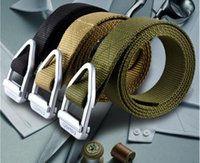 Wholesale Men s Army Tactical Belt Military Outdoor Sport Training Nylon Belts Mens Waist SWAT Nylon Strap with Metal Buckle