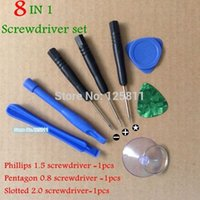 Wholesale 100set New Repair Opening Pry Tools Kit pointed star Screwdriver PH000 Phillips1 Screwdriver Set Fit for iPhone G S