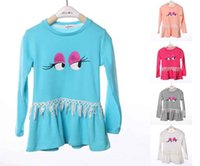 Cheap 2015 spring new Korean cotton children clothing girls Long sleeve lace sweater bottoming dress 42875108396 201501HX