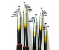 50pcs FRP caña de pescar 2,1 m 2,4 m 2,7 m 3,0 m 3,6 m ultra duro de fibra de carbono telescópica casting Spinning portátil de Rod