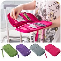 Wholesale Multifunctional storage bag large capacity travel document package clutch card holder passport bag
