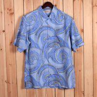 bahama t shirts - America t bahama brand silk print casual men s shirt with short sleeves M L XL XXL