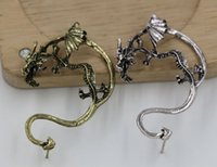 Wholesale Hot Ancient Silver Plated Ancient Bronze Fly Dragon Ear nail