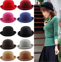 Wholesale 2015 Autumn Winter Multicolor Cashmere Wool Dome Fashion Hat Cap England Style Brand New Good Quality