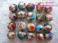 Wholesale OMH mm mm mm mm mm mixed chinese cloisonne flower beads finding spacer beads Beads pendant ZL50
