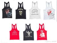 gym vest - 2015 cotton Men Summer GYM Tank Tops latest shirt design for men Fitness Bodybuilding Vest sport Underwear tank tops singlets